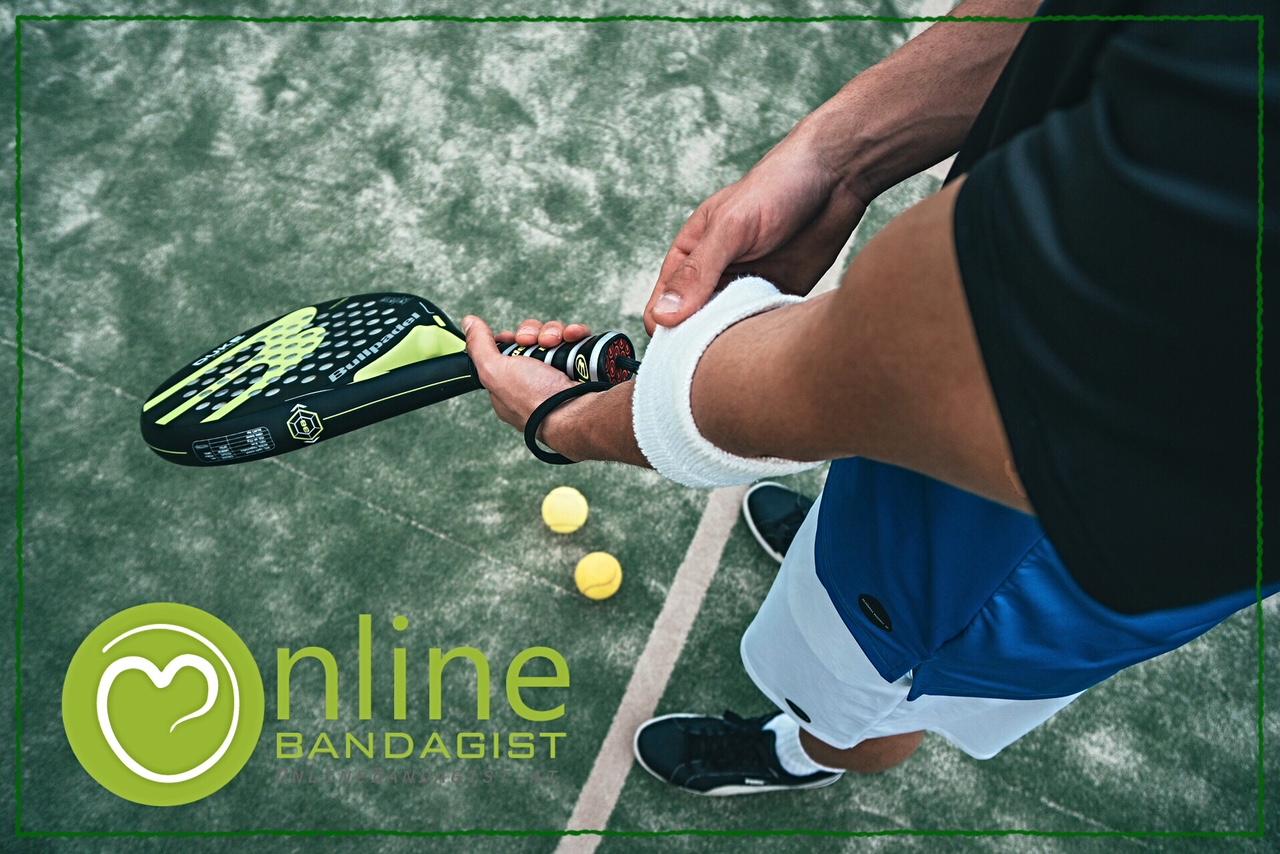 Tennisspieler mit Schmerzen